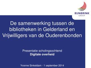 De samenwerking tussen de bibliotheken in Gelderland en Vrijwilligers van de Ouderenbonden