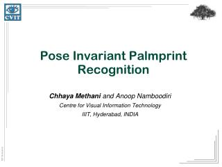 Pose Invariant Palmprint Recognition