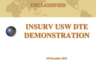 INSURV USW DTE DEMONSTRATION 18 December 2011