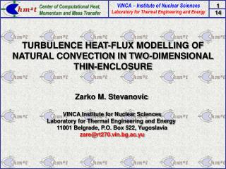 TURBULENCE HEAT-FLUX MODELLING OF NATURAL CONVECTION IN TWO-DIMENSIONAL THIN-ENCLOSURE
