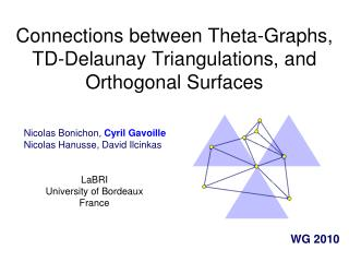 Connections between Theta-Graphs, TD-Delaunay Triangulations, and Orthogonal Surfaces