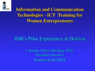 Information and Communication Technologies - ICT  Training for Women Entrepreneurs