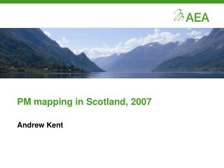 PM mapping in Scotland, 2007
