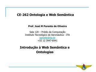 CE-262 Ontologia e Web Semântica