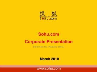 Sohu  Corporate Presentation