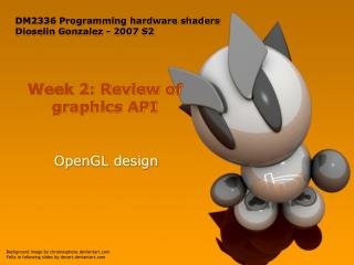 Week 2: Review of graphics API