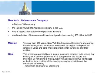 New York Life Insurance Company a Fortune 100 company