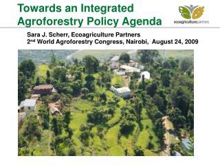 Sara J. Scherr, Ecoagriculture Partners