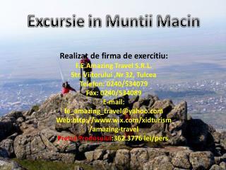 Excursie  in  Muntii Macin