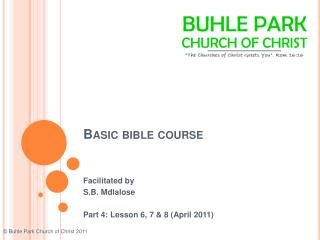 Basic bible course