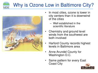 Why is Ozone Low in Baltimore City?
