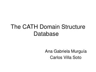The CATH Domain Structure Database