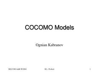 COCOMO Tutorial