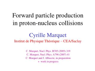 Forward particle production in proton-nucleus collisions