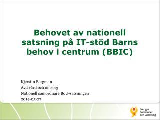 Behovet av nationell satsning på IT-stöd Barns behov i centrum (BBIC)