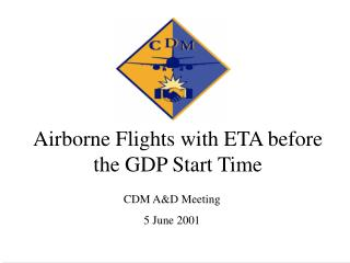 Airborne Flights with ETA before the GDP Start Time