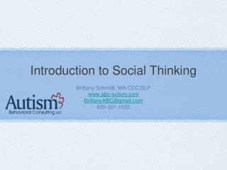 Introduction to Social Thinking