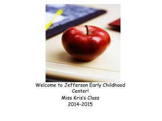 Welcome to Jefferson Early Childhood Center!