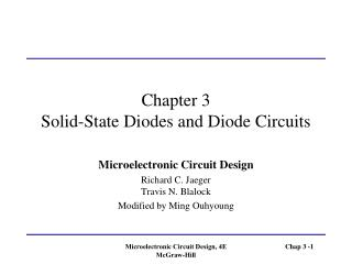Chapter 3 Solid-State Diodes and Diode Circuits