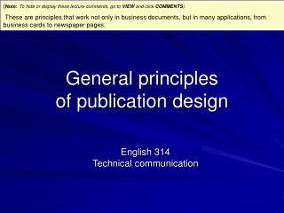 General principles of publication design