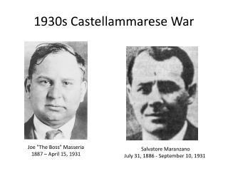 1930s  Castellammarese  War