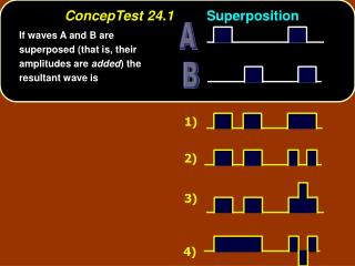 ConcepTest 24.1 Superposition
