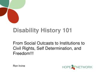 Disability History 101
