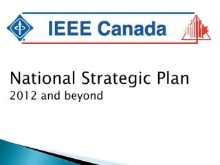 National Strategic Plan 2012 and beyond