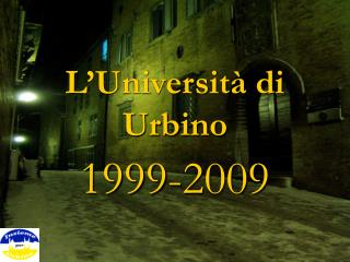 L'Università di Urbino