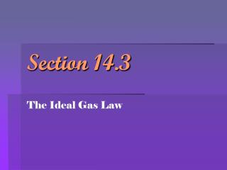 Section 14.3