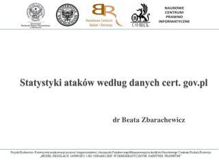 Statystyki ataków według danych cert.  gov.pl