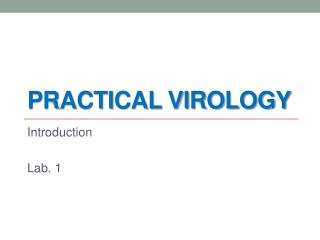 Practical Virology