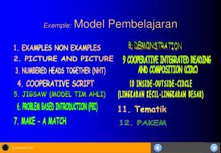 Exemple: Model Pembelajaran