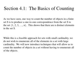 Section 4.1:  The Basics of Counting