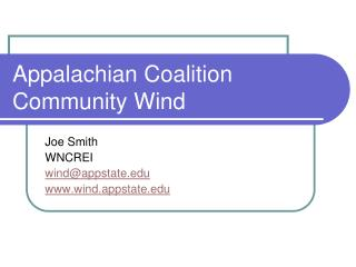 Appalachian Coalition Community Wind