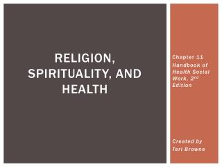 Religion, Spirituality, and Health