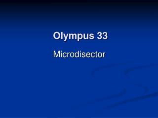 Olympus 33