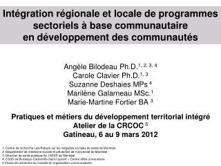 1. Centre de recherche Léa-Roback sur les inégalités sociales de santé de Montréal