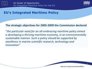 EU's Integrated Maritime Policy