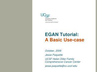 EGAN Tutorial: A Basic Use-case