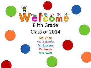 Fifth Grade Class of 2014