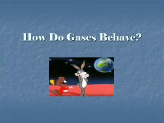 How Do Gases Behave?