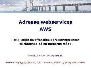 Adresse webservices AWS