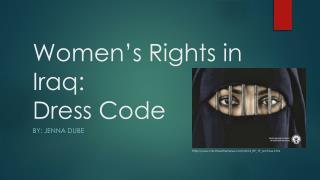 Women's Rights in Iraq: Dress Code