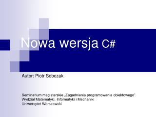 Nowa wersja C