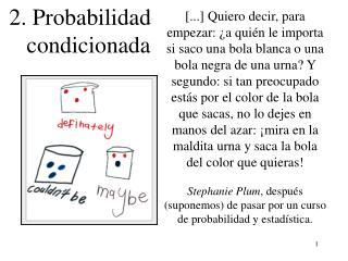 2. Probabilidad    condicionada