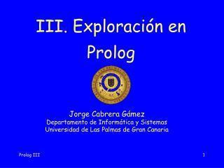 III. Exploración en Prolog