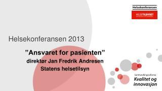 Helsekonferansen 2013