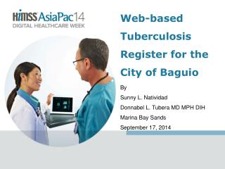 Web-based Tuberculosis Register for the  City of Baguio