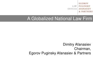 A Globalized National Law Firm